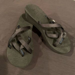 Brand New TEVA Wedge Sandal, Size 6